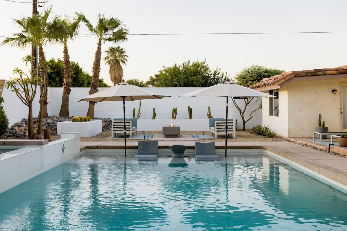 Spanish Bohemian Retreat, Large Saltwater Pool with Spa