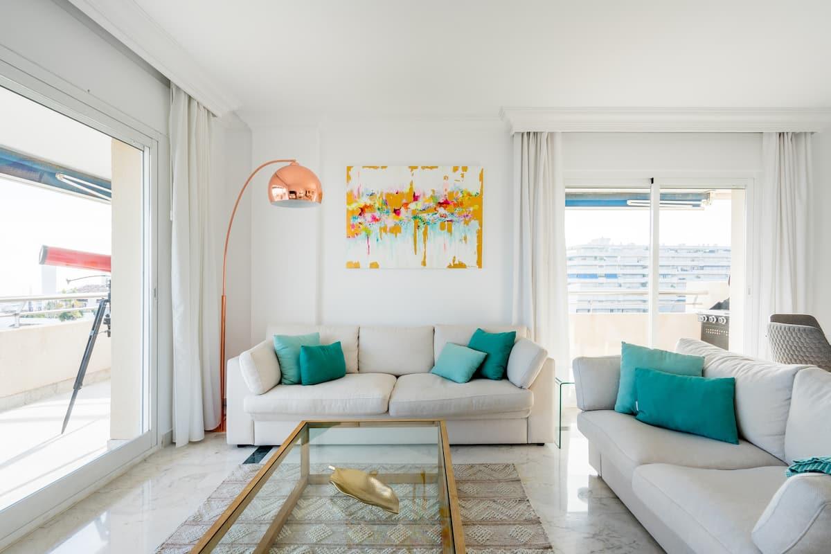 Dine Al Fresco on a Sunny Terrace Overlooking Sea
