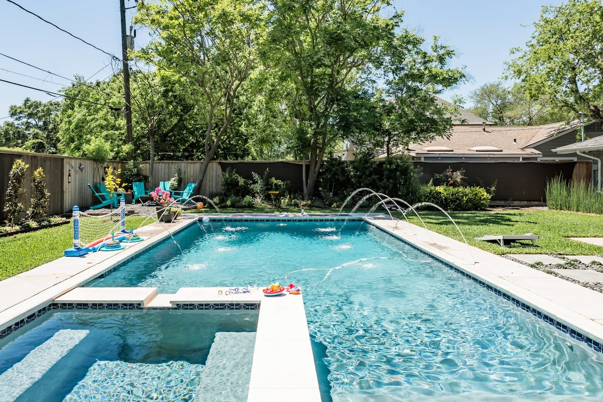 Visit The Galleria From a Family-Friendly Home with a Pool