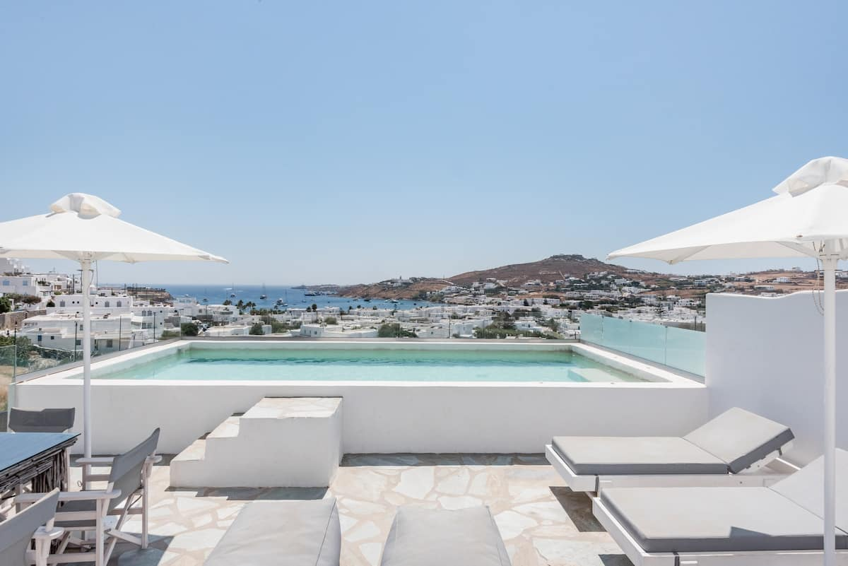 Glowing Private Pool & Sea Views Near Mykonos Town & Beach
