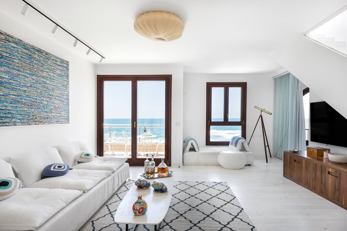 One Hundred Sqm Beachfront Penthouse in Old Jaffa Tel Aviv
