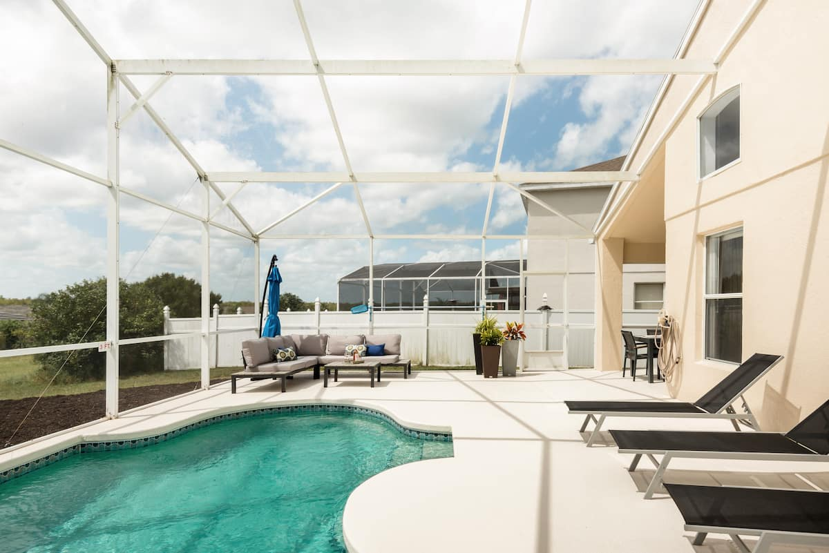 Airy, Stylish Home with a Pool in Davenport, FL