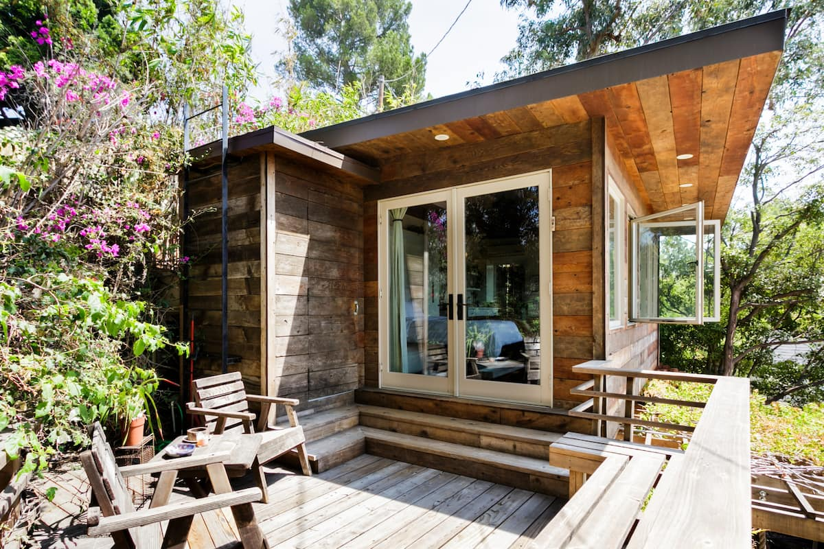 Rustic Space Perched in the Hollywood Hills
