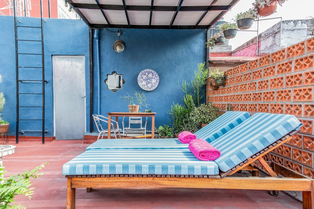 Very cool apartment with private terrace in Roma Norte