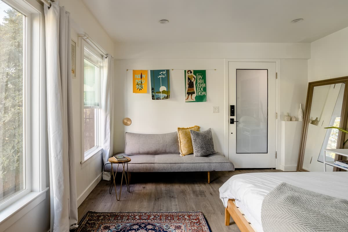 Minimalist Silver Lake Studio with a Tropical-Inspired Deck