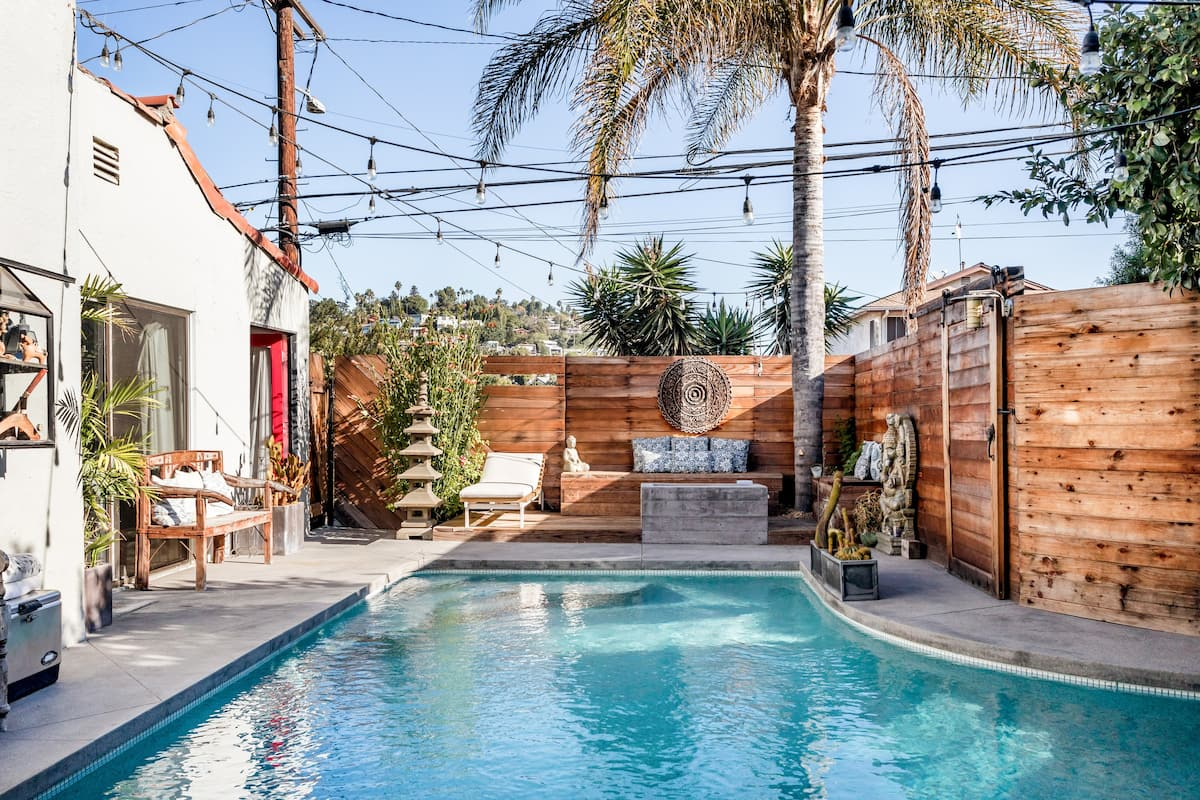 Chic Yoga Villa & Saltwater Pool Sunset Junction Silverlake.