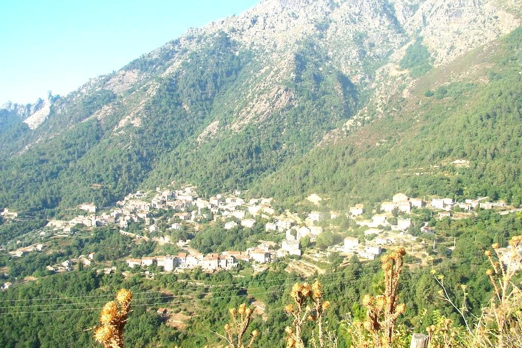 Hâvre au Coeur De La Montagne Corse - Venaco - บ้าน