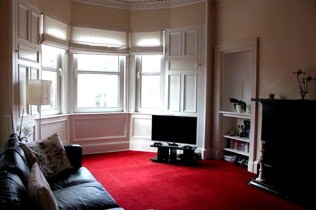 Elegant, spacious and quiet 2 bed flat near centre - Edynburg - Apartament