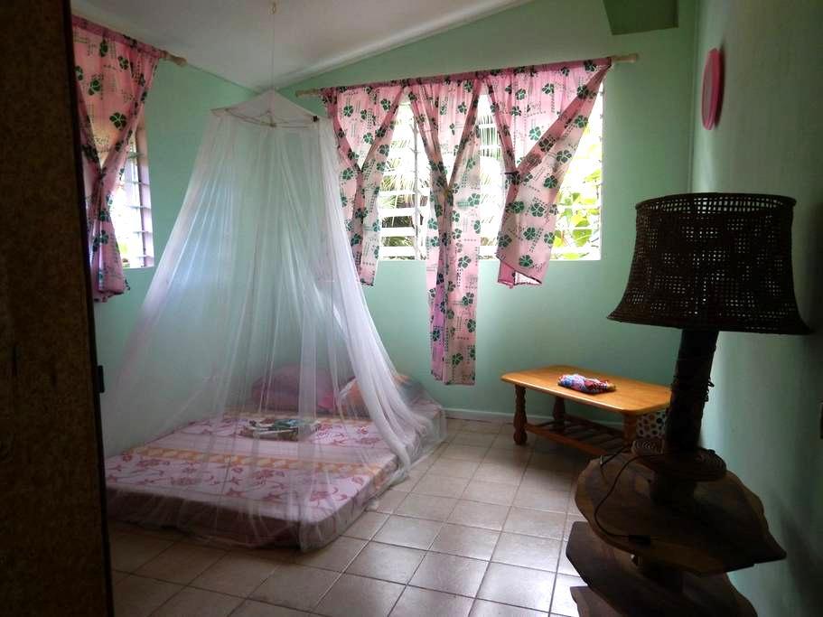 Simple authentique chambre dans famille tahitienne - Moorea - Guesthouse