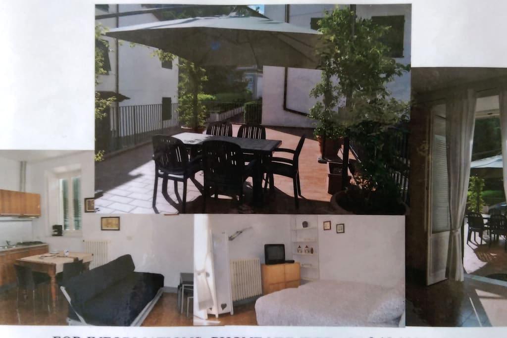studio attrezzato, grande terrazza - Bagni di Lucca Capoluogo