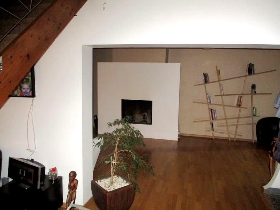 Chambre- maison style loft Valenciennes - Beuvrages - Talo