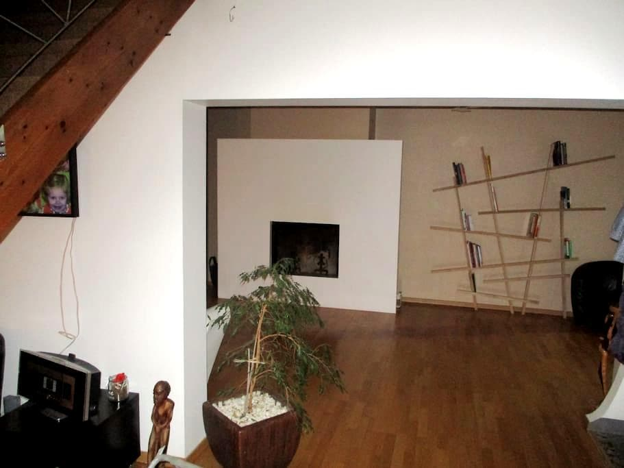 Chambre- maison style loft Valenciennes - Beuvrages - Hus