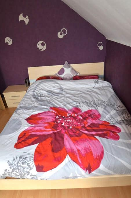 chambre + espace salon + sdb - Aix-sur-Cloie