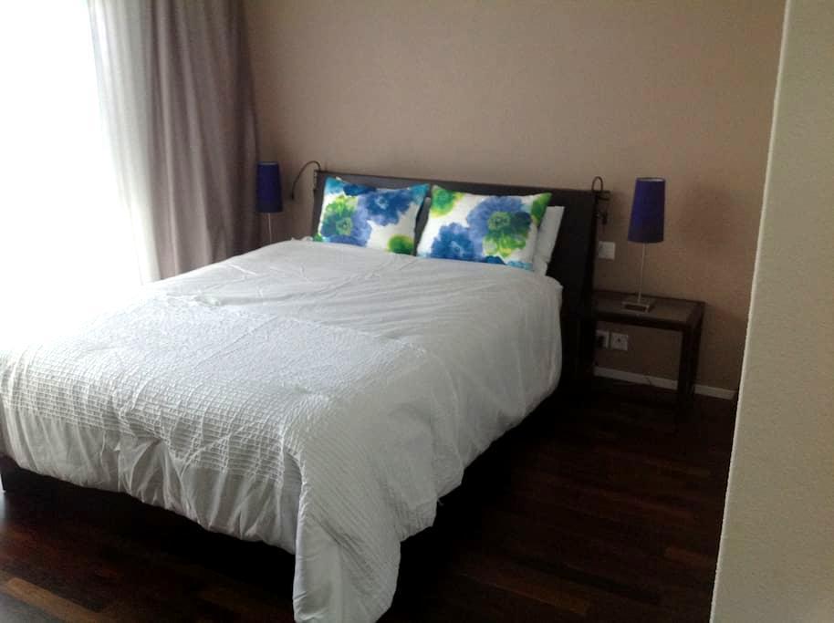 Schlafzimmer mit eigenem Bad en Suite - Schlieren - Appartement
