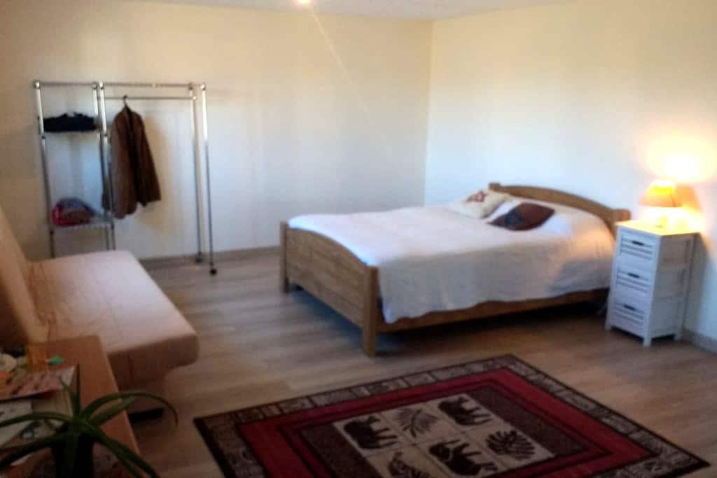 Chambre spacieuse de 30 m2 avec sdb et kitchenette - Saint-Junien - House