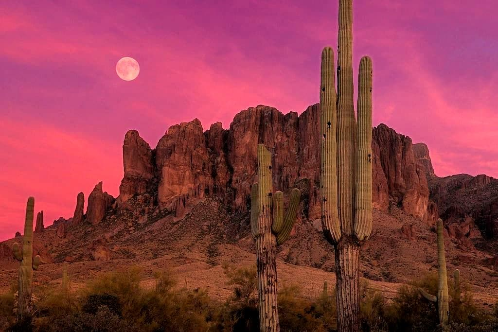 Desert Mountain Sunsets - Apache Junction
