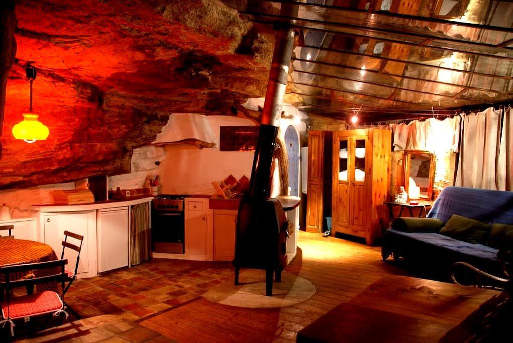 Gite de Charme Troglodyte - La Roque-sur-Pernes - Hus