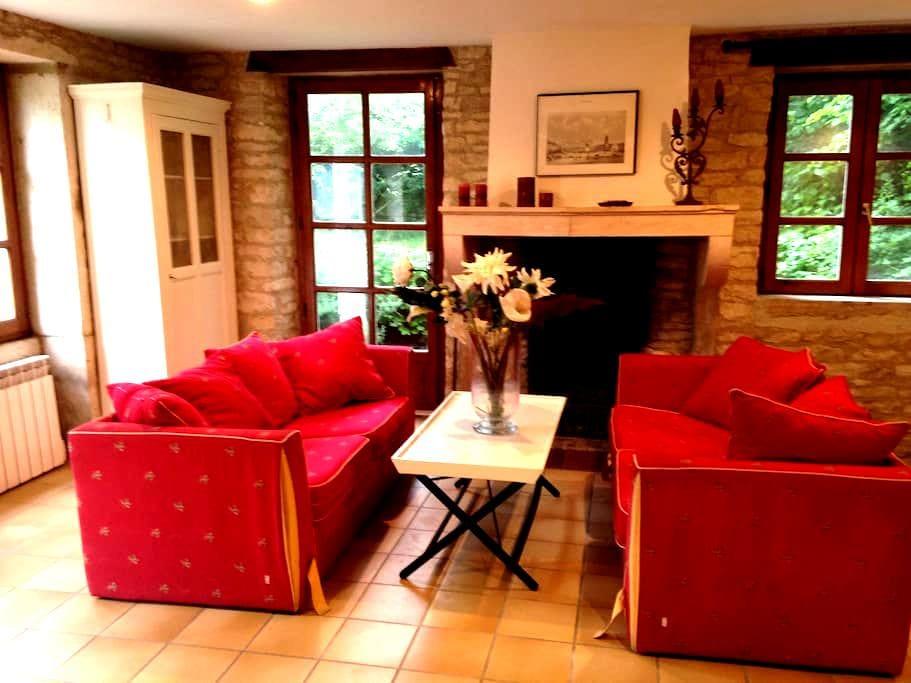 Maison en pierre dans le vignoble mâconnais - Clessé - House