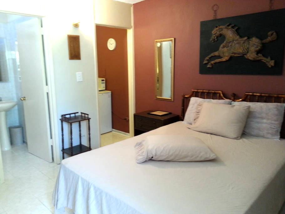 #B  2nd FLOOR FURNISHED ROOM/MINI STUDIO QUEEN BED - Ponce - Apartament