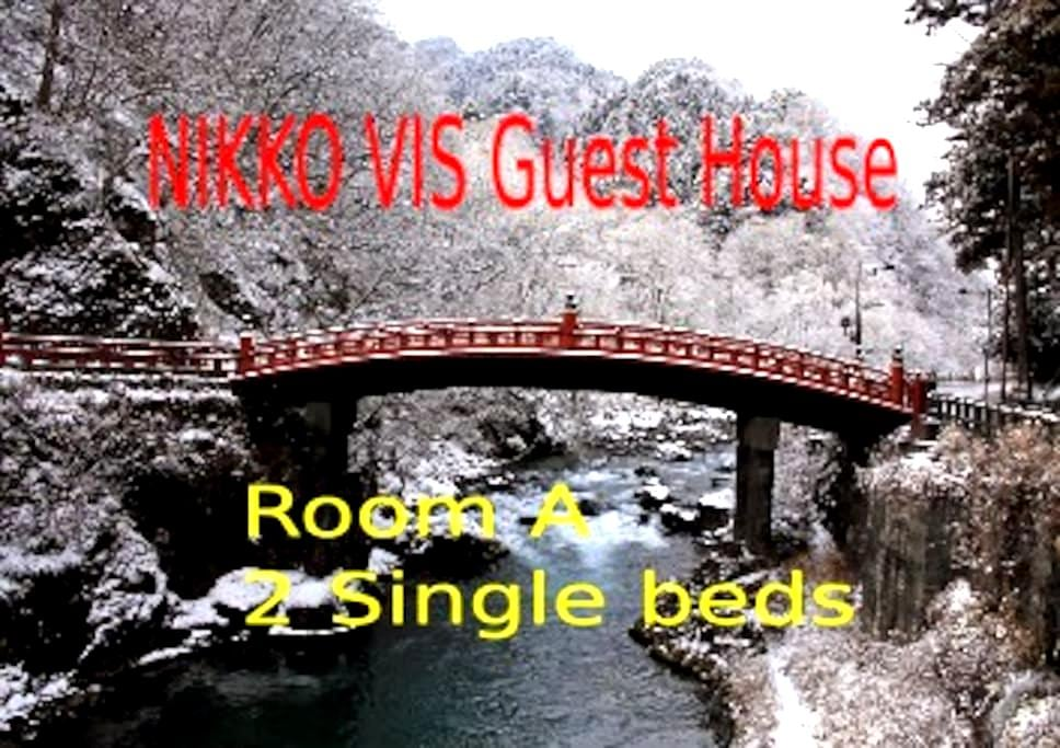 NIKKO ーVIS Guest houseー A (2 Single) 東武日光駅徒歩1分 - Nikkō-shi - Loteng Studio