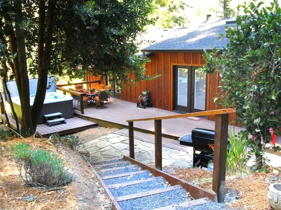 PEACE & QUIET: Wine Tasting | Fireplace | Hot Tub - Forestville - Hus