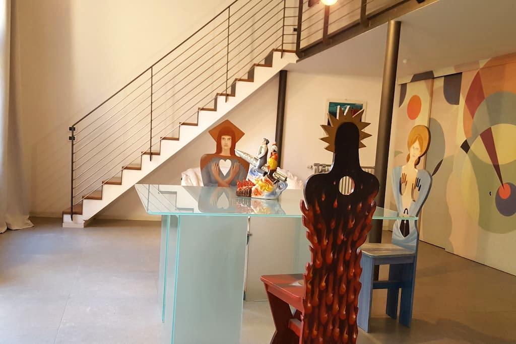 Artistic and colorful Loft, with private garden - Venezia - Loft