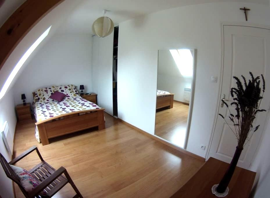 Chambre lumineuse + SdB/Wc privés - Valognes - Overig