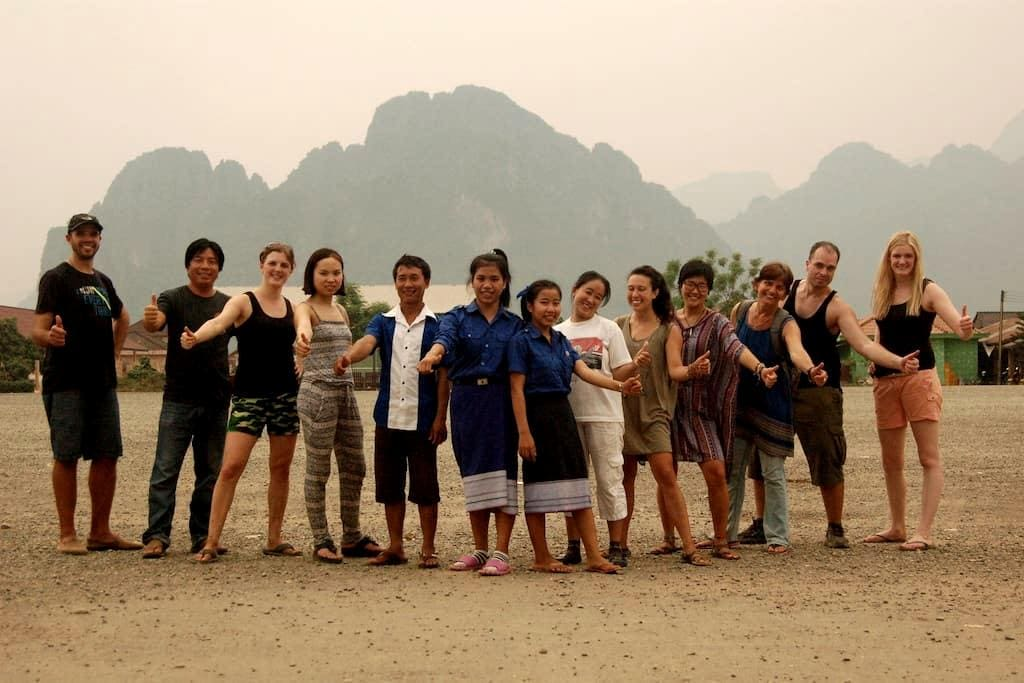 Non-profit homestay and volunteering: (double) - Vang Vieng - House