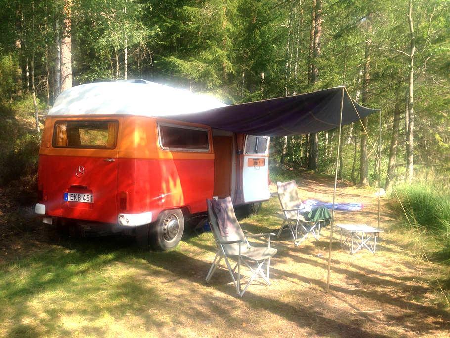 Cute vintage camper van from the 70s - Skarpnäck