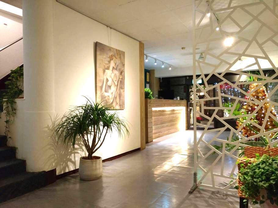 板橋捷運府中站獨立衛浴倆人同價套房206 - Banqiao District - Hostel