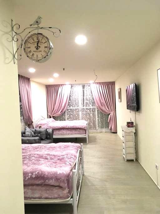 莉莉浪漫民宿3~近嘉義火車站、夜市,4人房20大坪、位於市中心交通便利 - 嘉義市 - Huoneisto