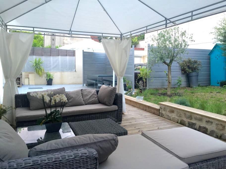 Master suite/Suite Parentale jardin - Ivry-sur-Seine - Huis