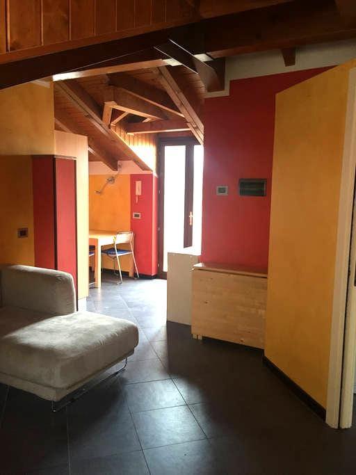 Cozy attic in the city centre between the lakes - Borgomanero