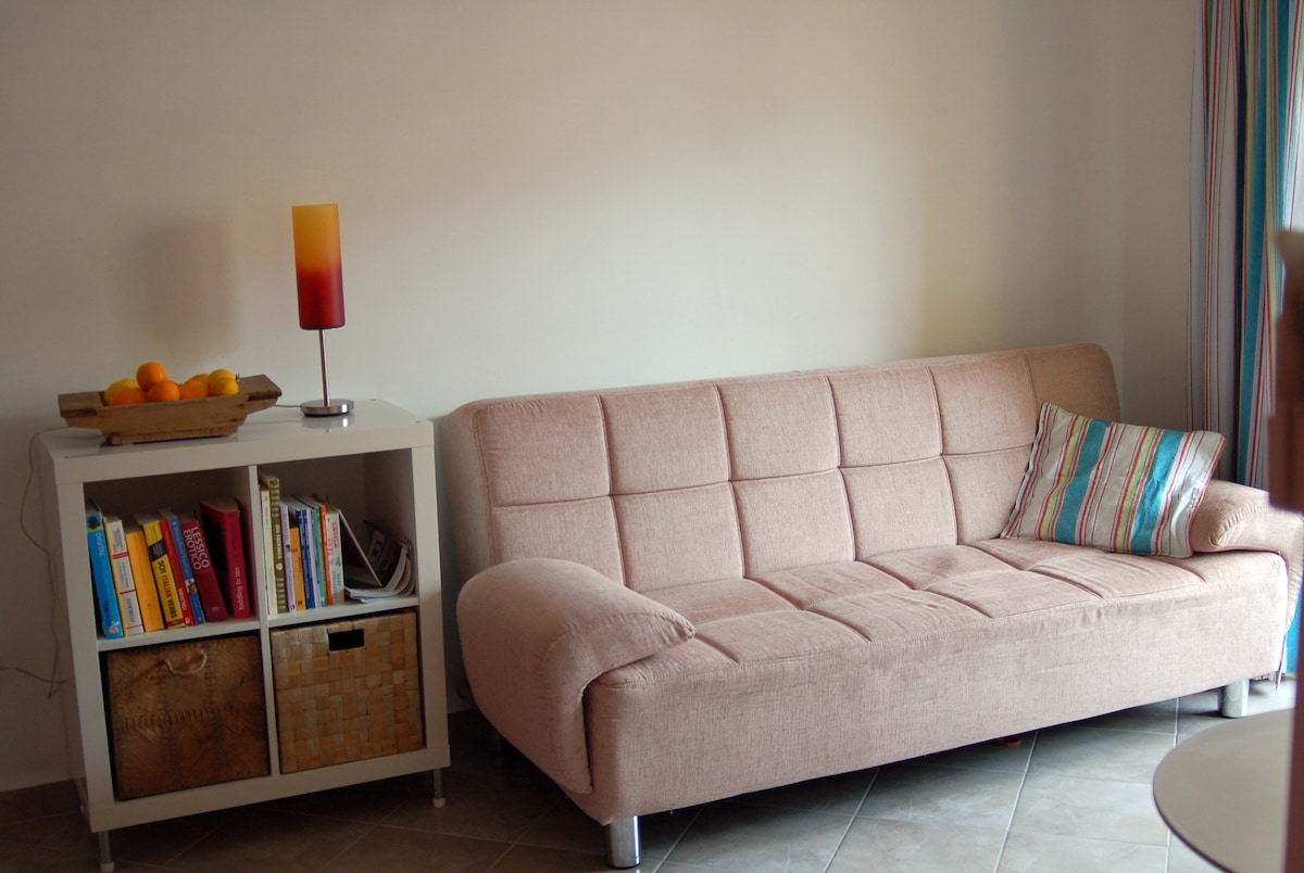 sofa bed for lazy moments in front of the tv