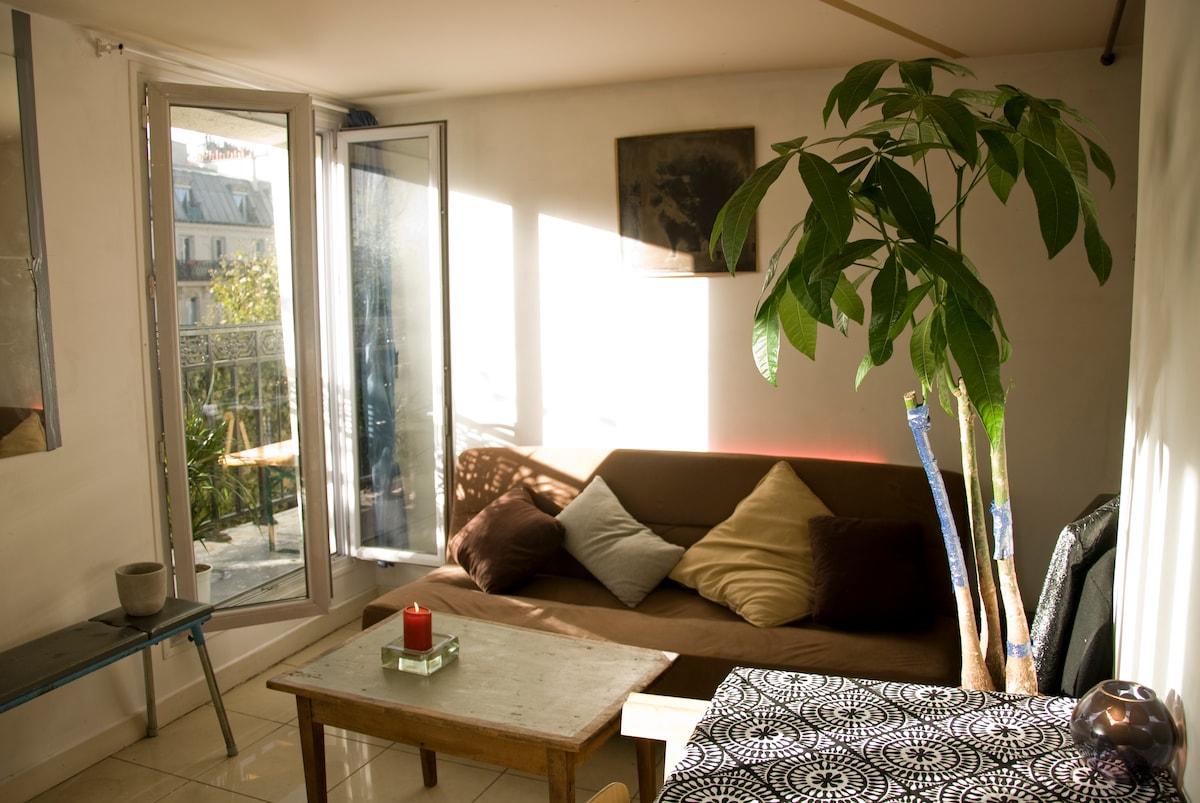 Nice Parisian room with balcony