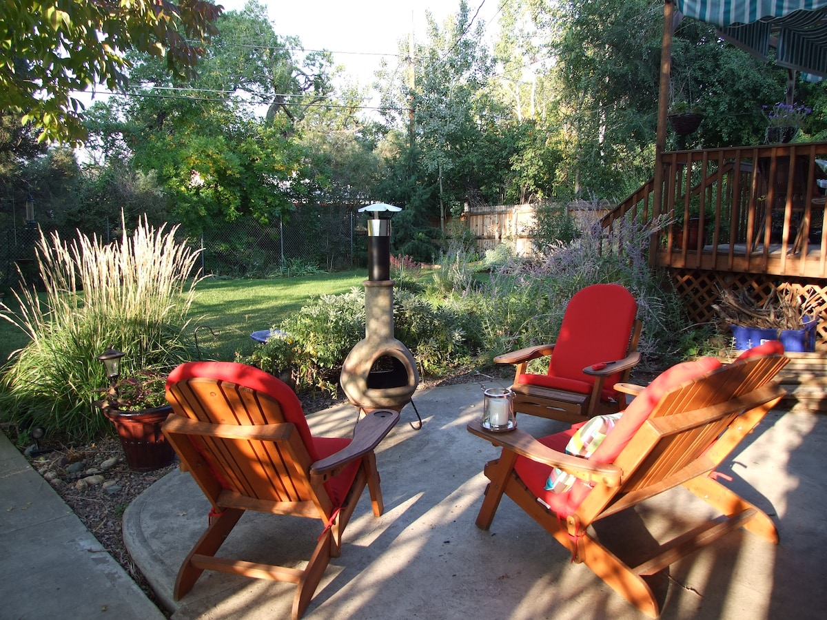 Flower garden and patio