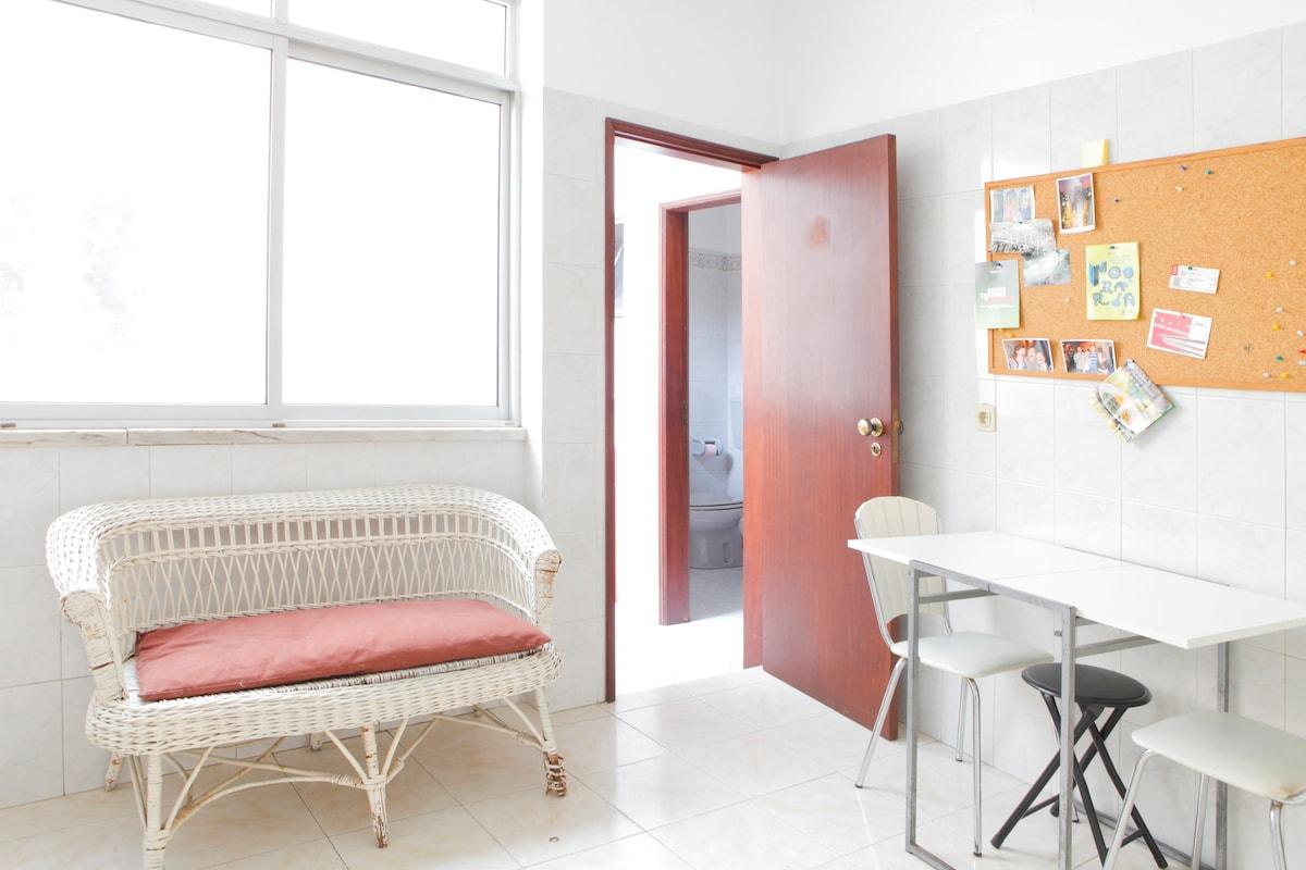 Private room + kitchen
