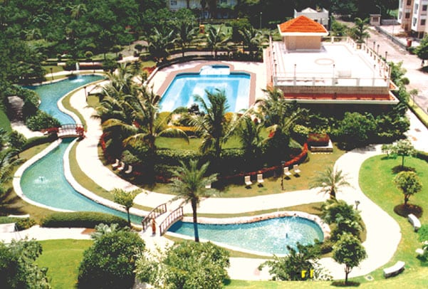 Club house and swimming pool