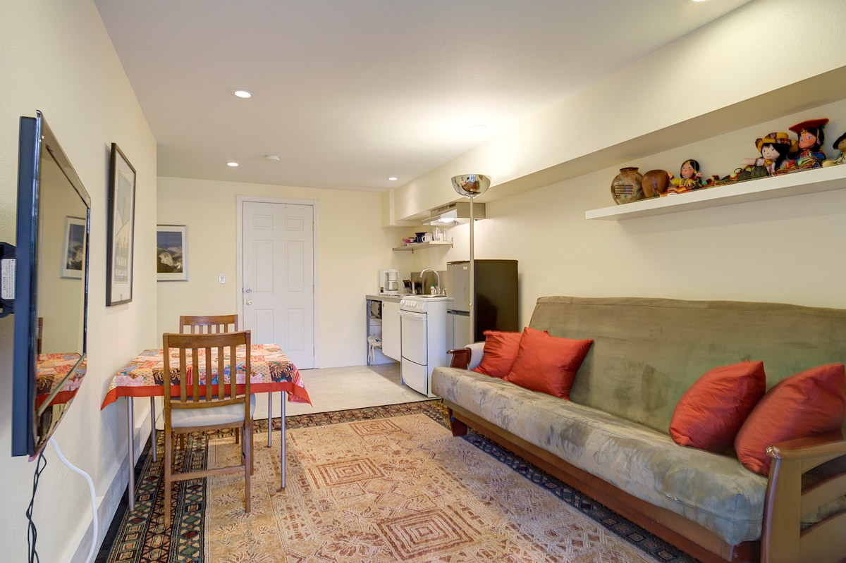 Living, dining and kitchenette area