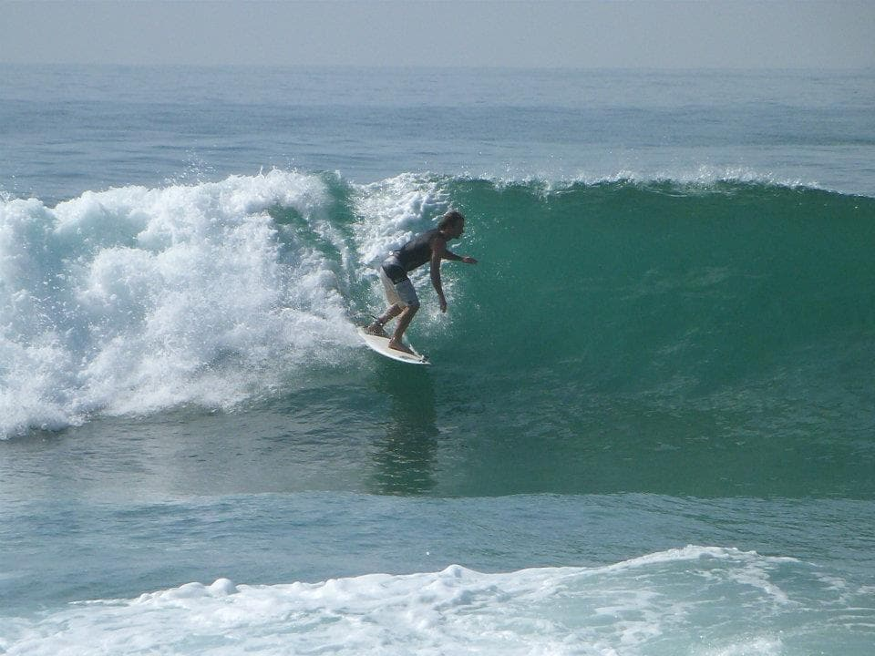 benj from france looking for nice shot in plantation surf point