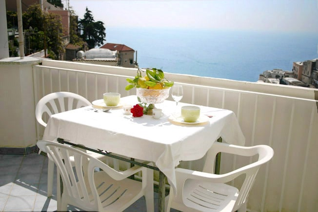 Stunning sea-view from Concetta Apartment in Positano