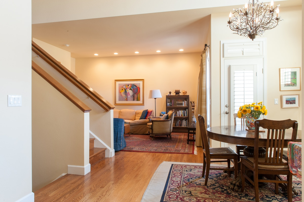The main level of Spruce House has an open floor plan.