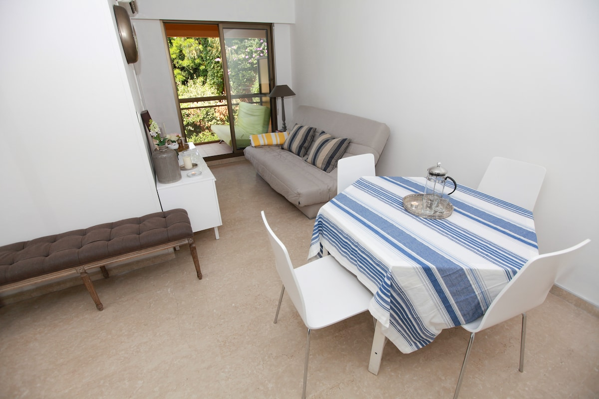 The lounge with dining table and luxury sofa bed