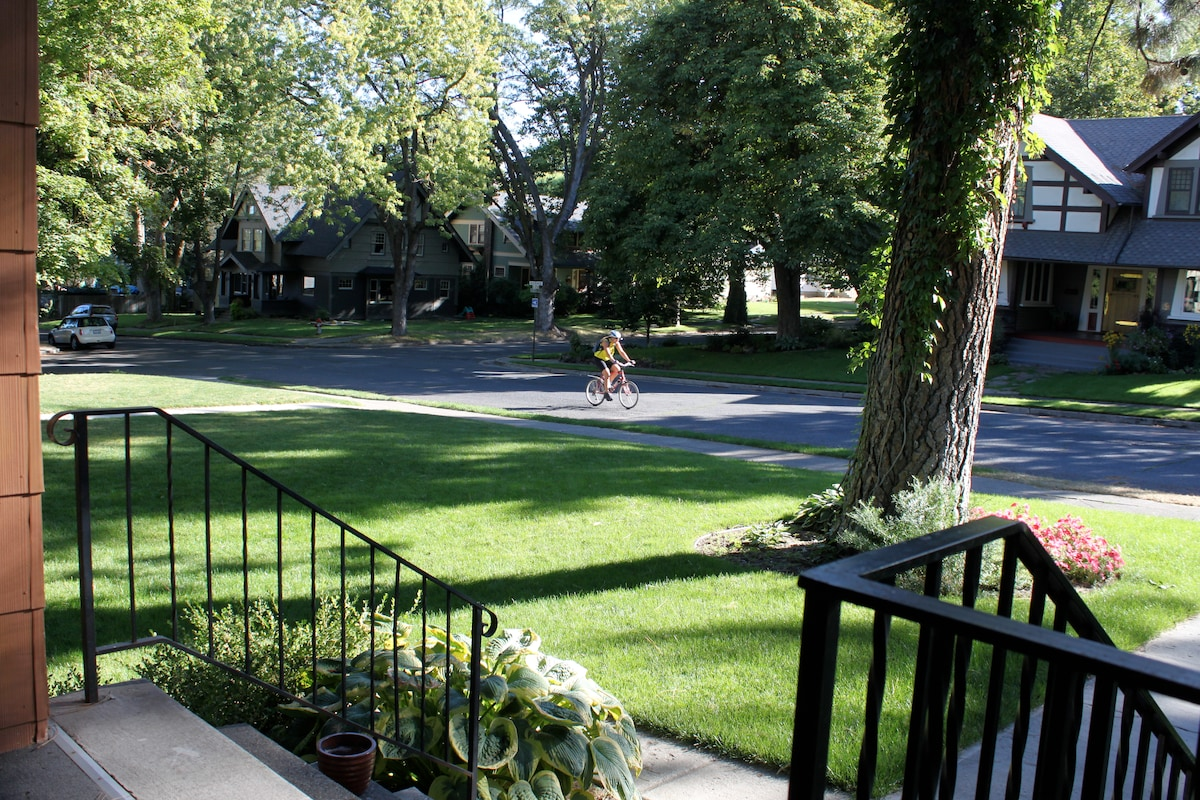 Adams is a popular bike route. This is taken from the home's front porch.