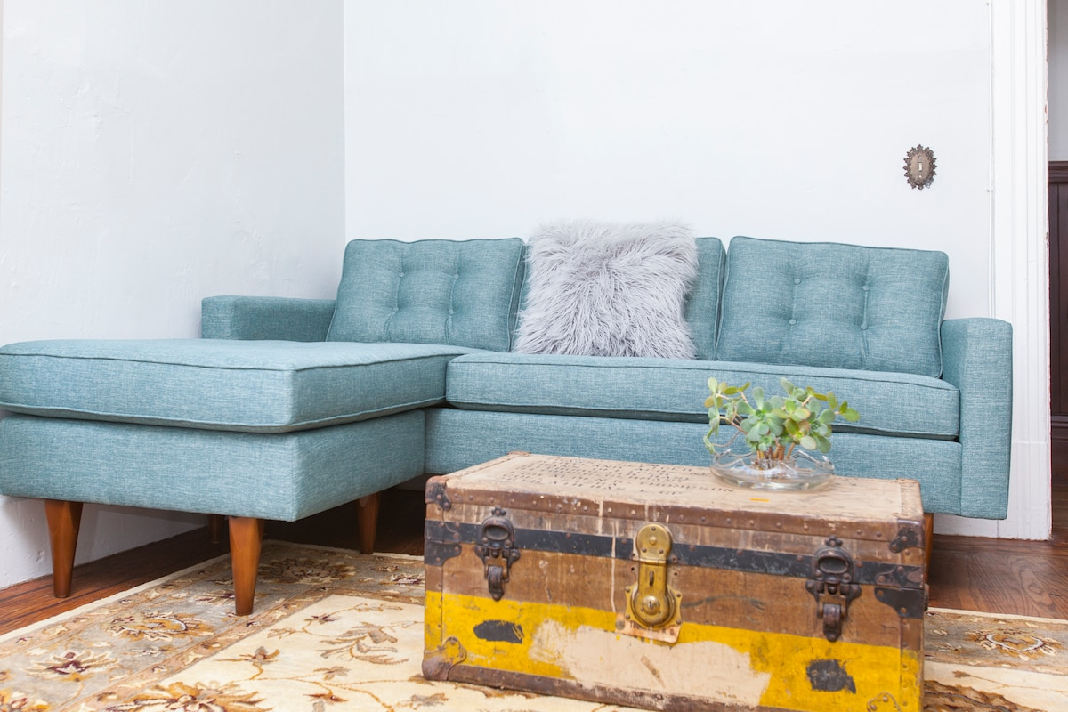Comfortable furnishings and premium cable TV