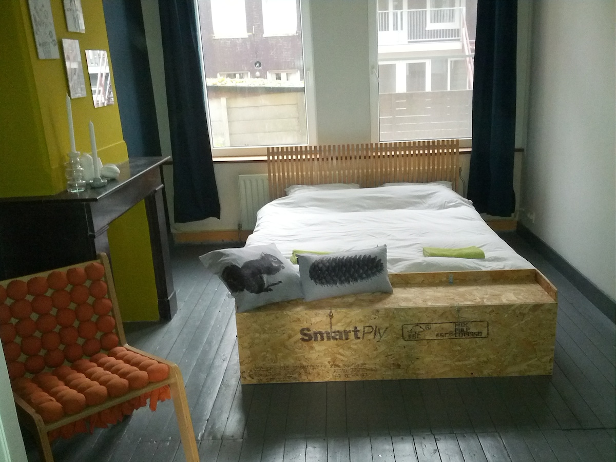 The bedroom is renovated in October