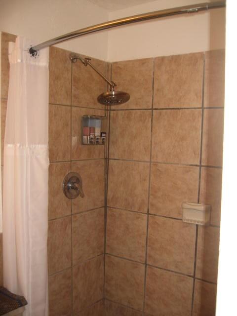 Shower with soap/shampoo dispenser
