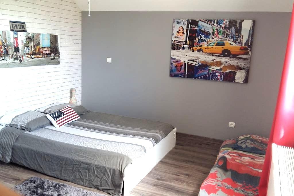 Chambre privée avec lit double et petit déjeuner - Challex - Ξενώνας