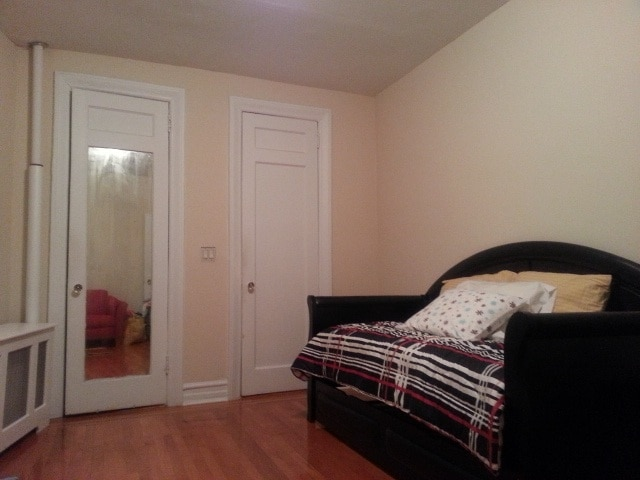 Two large closets in the bedroom.