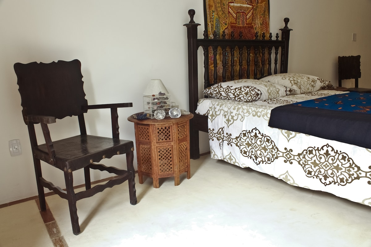 Morocco room for three people a double bed  and a single bed